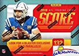 2019 Score NFL Football EXCLUSIVE Factory Sealed Blaster Box with 132 Cards & MEMORABILIA Card! Look for Rookies & Autos of Kyler Murray, Daniel Jones, Dwayne Hoskins, Drew Lock & Many More! WOWZZER!