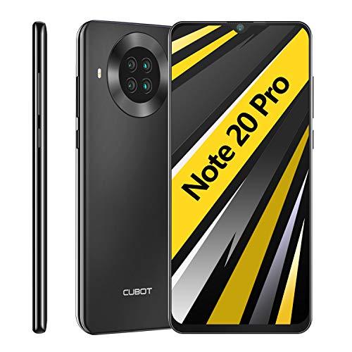 CUBOT Note 20 Pro Smartphone ohne Vertrag, 6GB RAM/128GB, 6.5 Zoll HD Display, 4200mAh Akku, 4 Kameras, 4G Dual SIM, Android 10, Schwarz