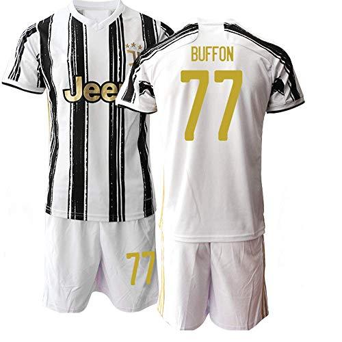 QIUYUAN 20/21 Kinder Buffon 77# Fußball-Trikot Kurzarm Anzug -Weiß (20)