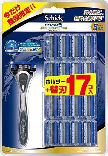 大容量 シック Schick ハイドロ5 プレミアム バリューパック (ホルダー (刃付き) + 替刃16コ) 5枚刃 カミソリ 髭剃り スキンガード付