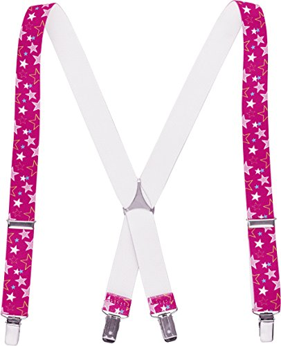 Playshoes Hosenträger Sterne Braces Unisex, Pink, 60 cm