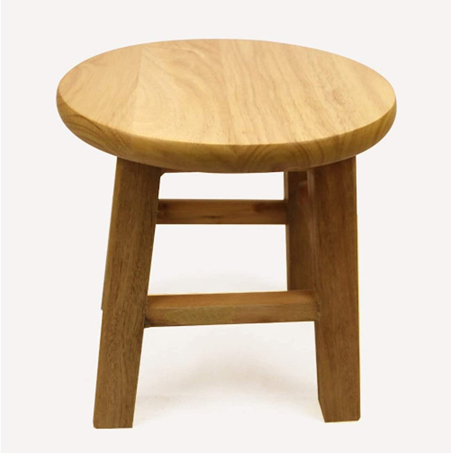 Lsxlsd Solid Wood Stool Home Small Bench Fashion Creative Stool Simple Modern Footstool Change shoes Stool Adult Small Wooden Bench