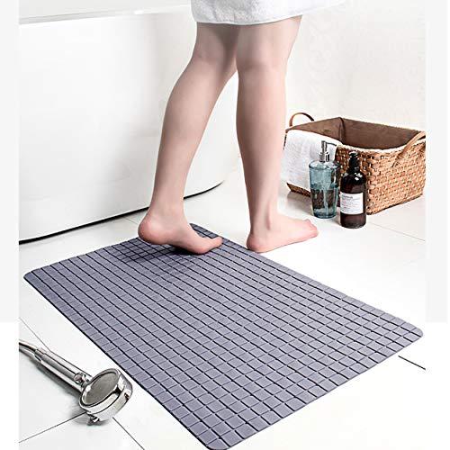 Tappetino da Bagno Antiscivolo per Doccia Tappetino da Bagno Grigio con Ventosa 40 x 71 cm, Tappetino da Bagno Utilizzato in WC, bagno, vasca e doccia, ecc.