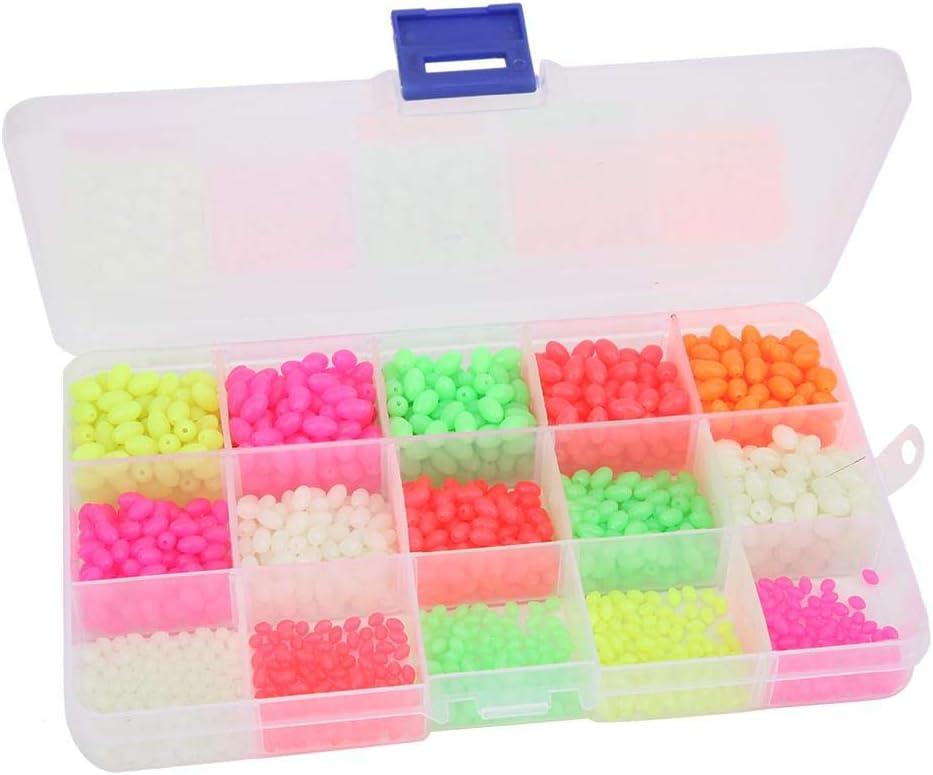 Vbestlife 1500Pcs Fishing Bead Set Max 52% OFF Fish Be Oval Luminous shop Shaped