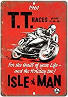 TTレースマン島のオートバイ 金属板ブリキ看板警告サイン注意サイン表示パネル情報サイン金属安全サイン