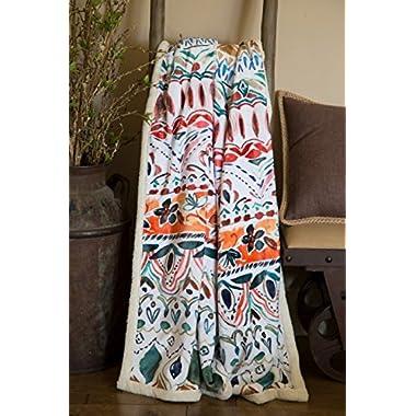 North End Décor Boho Stripe Ultra-Plush Sherpa Throw Blanket