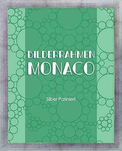 Monaco - Marco de fotos (24 x 98 cm, cristal acrílico de 1 mm), color plateado