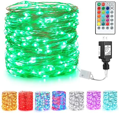 BrizLabs Green Fairy String Lights 66ft 200 LED Color Changing Fairy Lights with Remote Plug product image