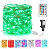 BrizLabs Fairy String Lights, 66ft 200 LED Color Changing Fairy Lights with Remote, Dual Color Plug in Twinkle Fairy Lights, RGB Lights String for Room Wedding Valentine's Day, St. Patrick's Day Decor