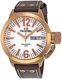 TW Steel Watch for Men, Leather, CE1017