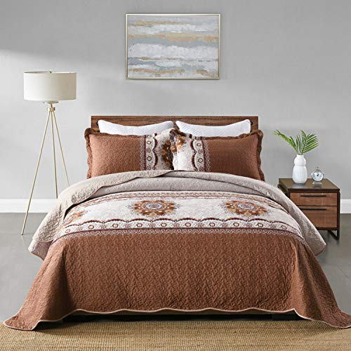 Queen Reversible Bedspread Set $16.00 (60% OFF Coupon)