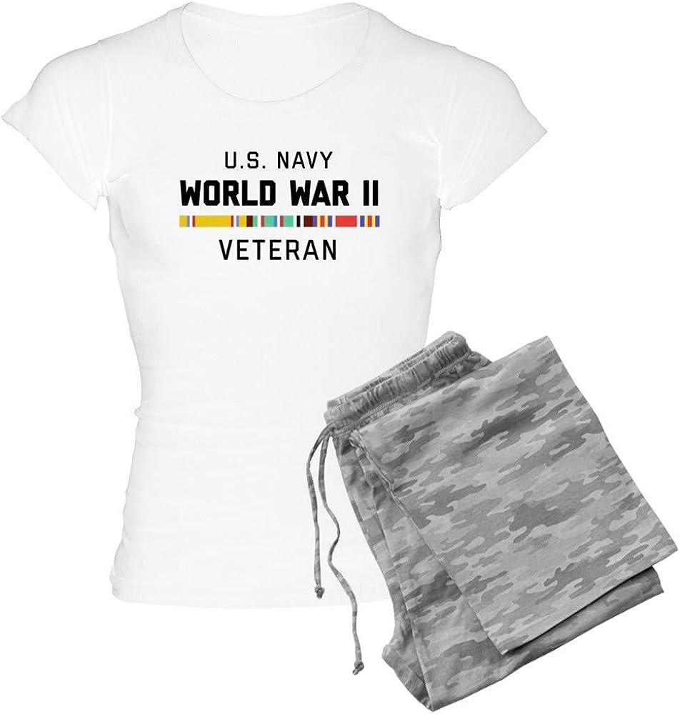 CafePress Max 79% OFF Navy World War Women's Ranking TOP10 PJs Veteran