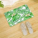 YUZE 60x90 cm Alfombra de Hojas de Plantas Verdes, alfombras de...