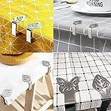 Atuful 8 Stück tischtuchklammern,Tischdeckenklammer aus Edelstahl,Tischdeckenhalter für Familie Party (Blätter Schmetterling) - 7