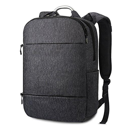 """REYLEO Zaino per Computer Portatile da 15.6 """" Zaino porta pc impermeabile con il manico di alluminio per università o scuola Backpack uomo bussiness da 23 L ( Blu scuro)"""