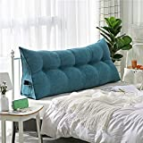HHXX Bed Backrest Pillow, Triangular Wedge Cushion, Upholstered Headboard Back, Support for Sitting Up in Bed Bed Back Support for Reading Relaxing (Chair Cushion, Sofa, Bed
