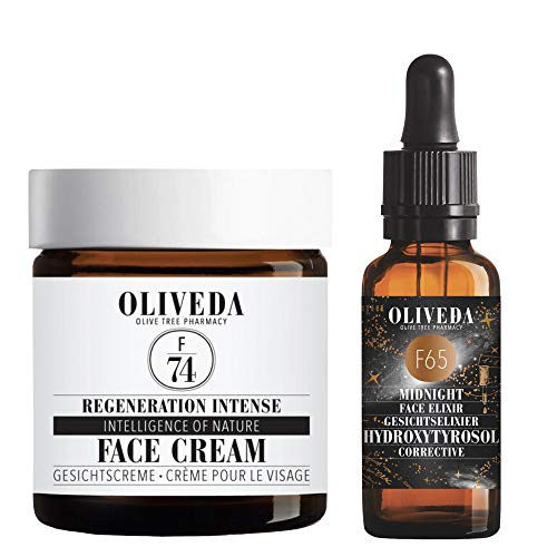 Oliveda F74 Regeneration Intense Face Cream 60ml + F65 Corrective Midnight Face Elixier 30ml