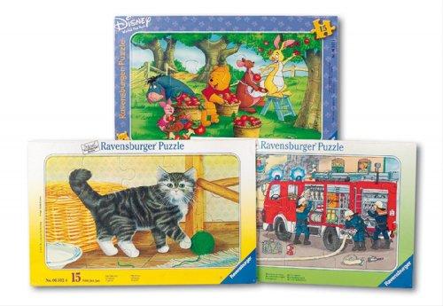 Ravensburger - Puzzle enfant - Coll. Puzz. Cadre 15 Pièces, Assortiment