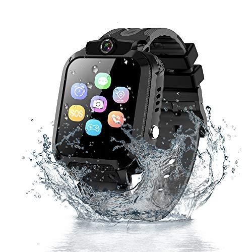 Vannico Kinder LBS Intelligente Uhr Wasserdicht IP68, Smartwatch Kinder Telefon mit SOS Handy Touchscreen Spiel Kamera Voice Chat Wecker für Jungen Mädchen Student Geschenk