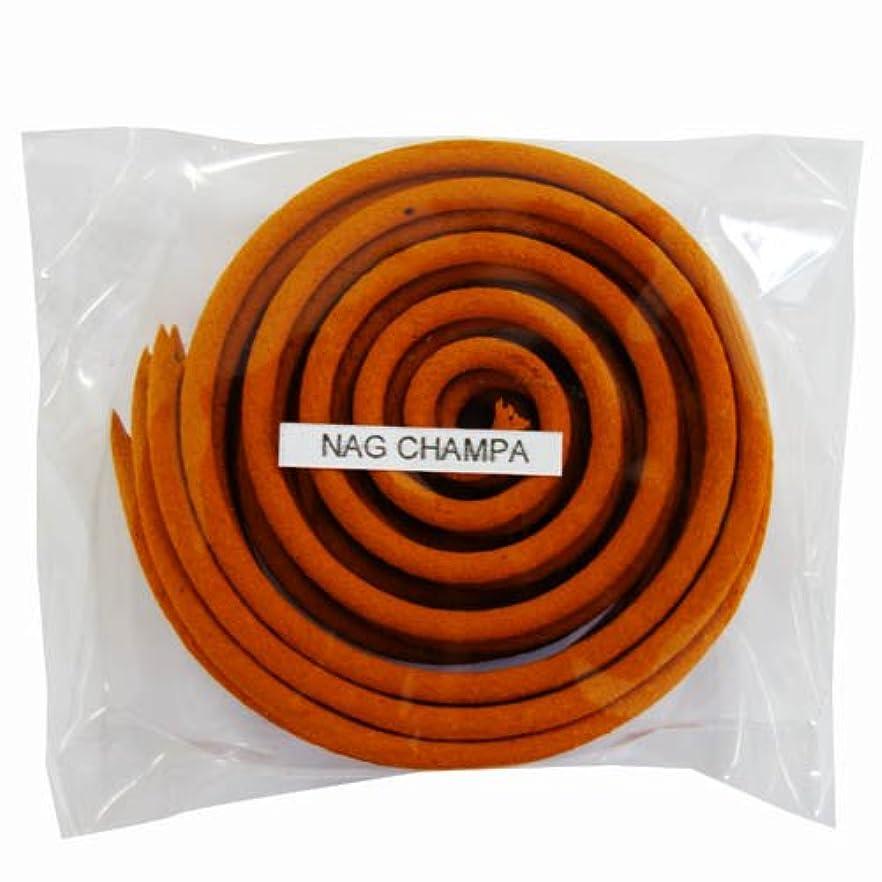 長老ランチョンラインお香/うずまき香 NAG CHAMPA ナグチャンパ 直径6.5cm×5巻セット [並行輸入品]