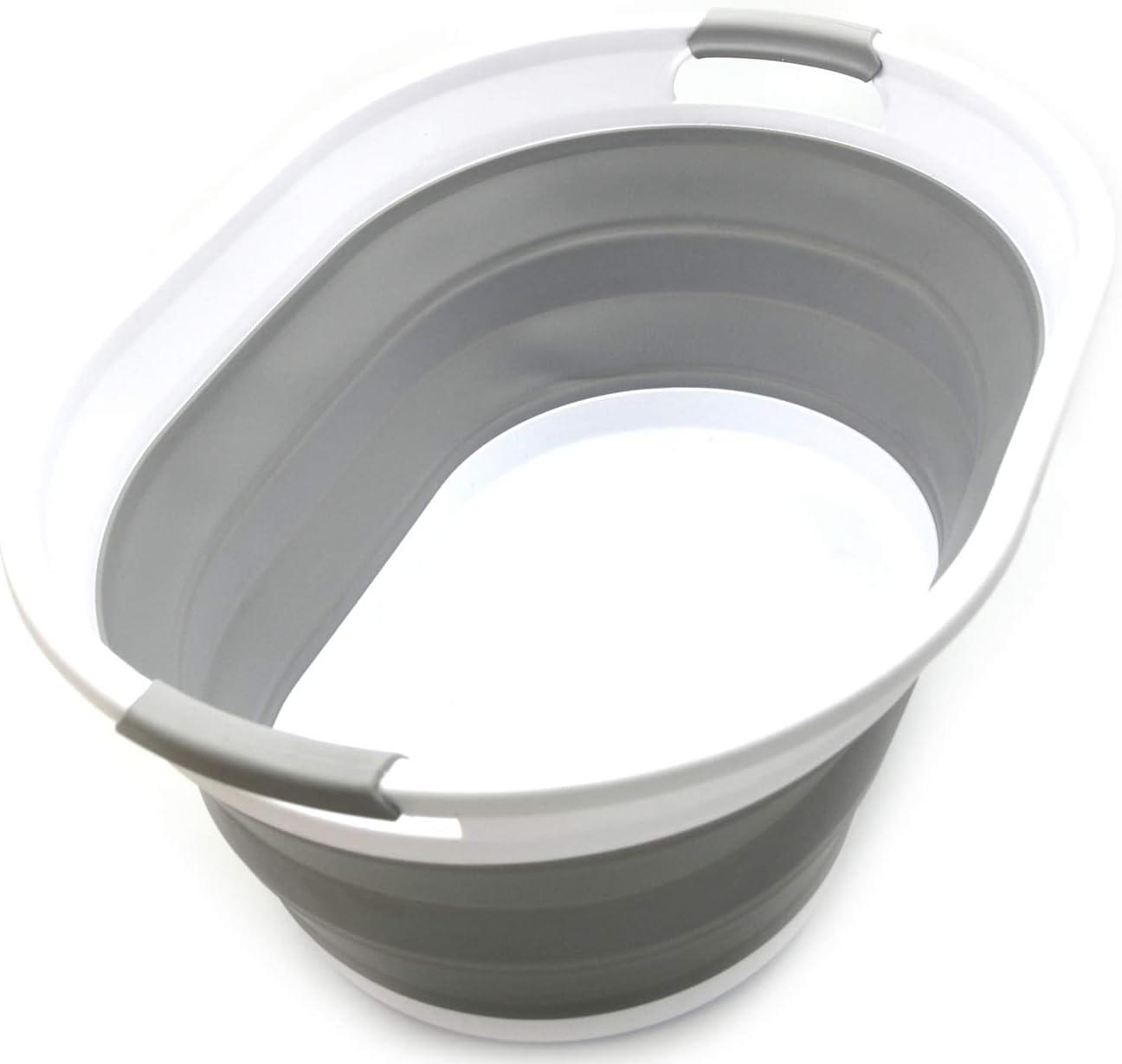 SAMMART Collapsible Plastic Japan Maker New Laundry Basket F - Oval Tub Under blast sales