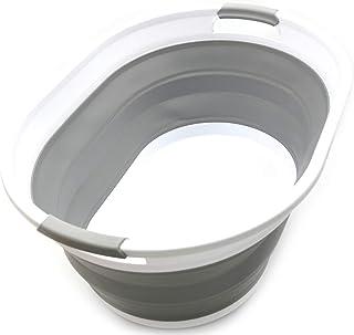 Sammart pliable Panier à linge en plastique–Ovale Tub/panier–pliable Boîte de rangement/organiseur–Portable Panier à...