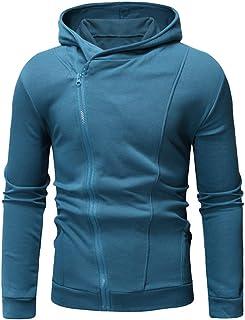JSPOYOU Men Coat Long Sleeve Autumn Winter Casual Sweatshirt Hoodies Coat Tracksuits Jacket