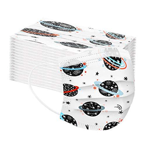50 Stück Kinder Mundschutz Einschulung Cartoon Einweg 3-lagig Atmungsaktiv Face Cover,lustiger mundschutz Face Halstuch für Jungen und Mädchen (B-3)