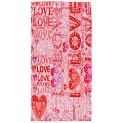 Precious Meet Doodle I Love Heart Toallas de Mano Toalla de baño romántica Absorbente Ultra Suave