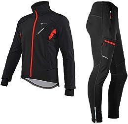 Cyclisme Veste Polaire Hiver + Longue Pantalon Vél