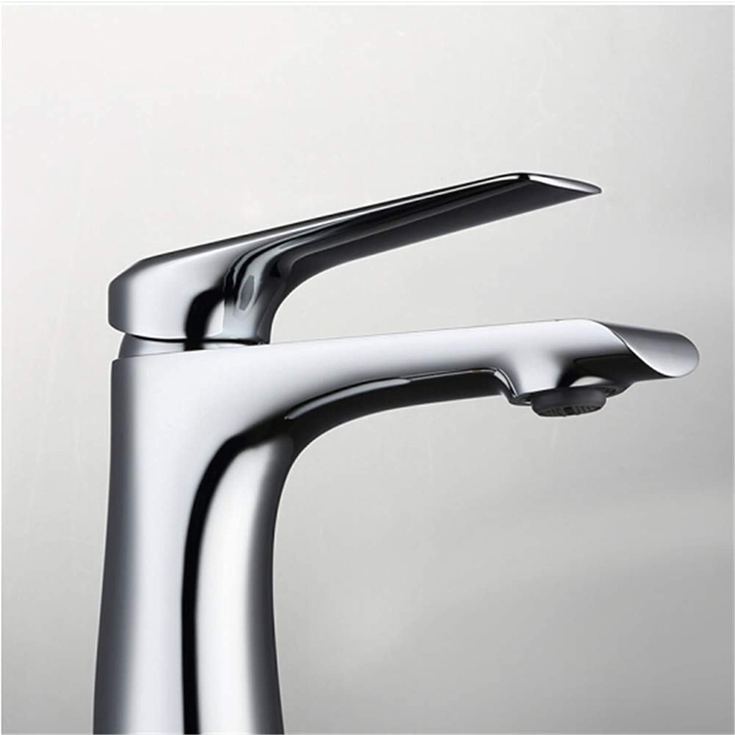 Kitchen Taps Faucet Modern Kitchen Sink Taps Stainless Steelcold and Hot Washbasin Faucet Sanitary Bathroom Single Face Basin Faucet