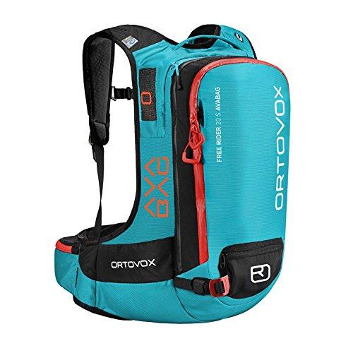 ORTOVOX Free Rider 20 S Avabag Kit, Sacs à Dos Mixte Adulte, Vert (Aqua), 24x36x45 cm (W x H L)