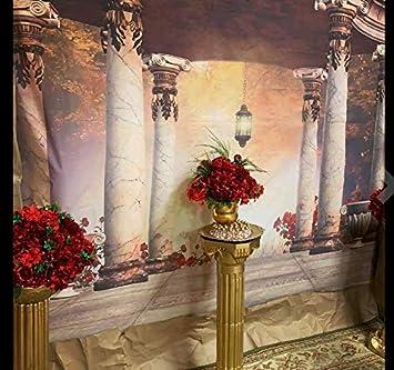 AOFOTO 8x8ft Romantic Wedding Royal Gazebo Background Classic Gloriette Photography Backdrop Vintage Garden Pavilion Retro Columns Photo Studio Props Ladies Girl Artistic Portrait Photoshoot Vinyl