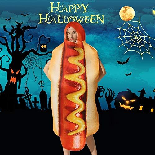 iBàste Disfraz de Hot Dog Adulto 2019 Festival Evento Disfraz Halloween Navidad Hot Dog Disfraz Siamés