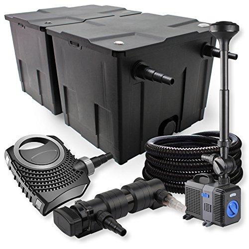 SunSun Kit de Filtration de Bassin 60000l 18W UVC Stérilisateur NEO7000 50W Pompe Tuyau Fontaine