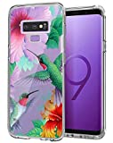 Samsung Galaxy S9 Phone Case - Cholaty Hawaii Hibiscus Hummingbird Pattern Design Soft TPU- CholatyClear Full Body Drop- CholatyProof Phone Case for Samsung Galaxy S9