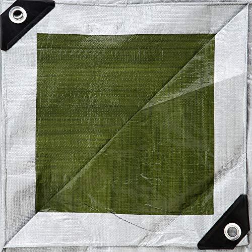 GardenMate 3x6m 140g/m² Lona de protección Prémium verde/plata - Funda protectora - Malla geotextil