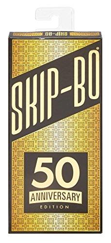 Mattel Spiele DXC43 - Skip-BO 50 Jahre Jubiläums-Edition, Kartenspiele