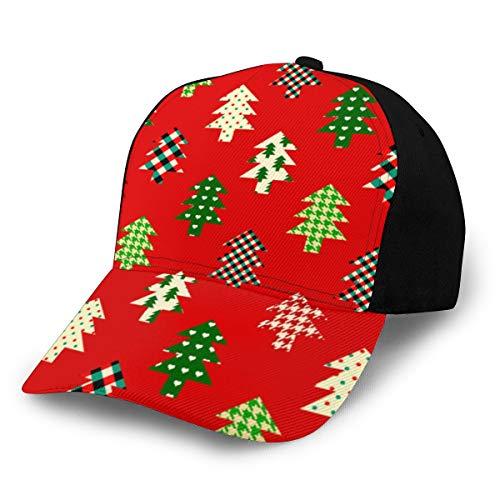 Fondo de Navidad sin costuras en estilo patchwork Gorra deportiva con estampado de moda Gorra deportiva para hombres y mujeres Gorra de béisbol para mujeres y
