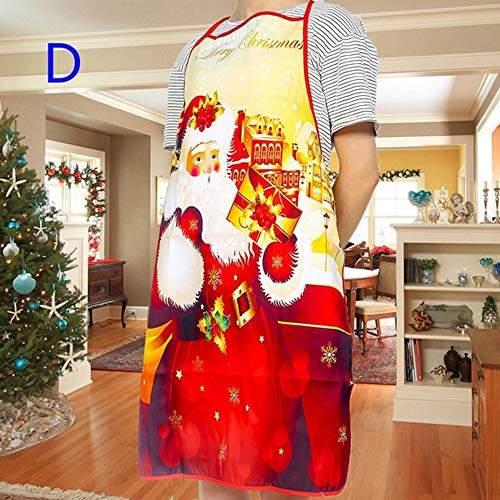 Duoying Delantal de Navidad Decorativo Creativo Campana Falda Hotel Especial Ciervos Delantales Mujeres