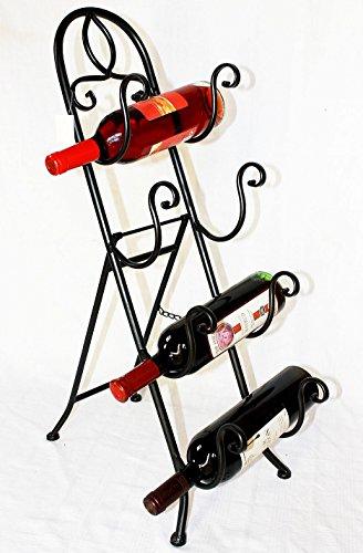 DanDiBo Weinregal zum Hinstellen aus Metall Cuatro 498-004 Flaschenständer Flaschenhalter 78 cm Regal