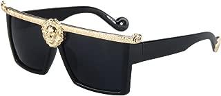 Square Flat Top Thick Plastic Super Dark Gangster Luxury Sunglasses 57mm