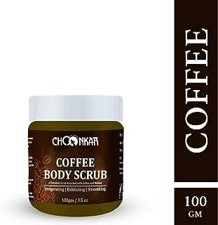 Choonkar Coffee Body Scrub (SLS and Paraben Free, Vegan & Non Cruelty)-100gm