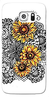 Sunflowers Transparent Printed Back Cover For Samsung Galaxy S7 - Multi Color