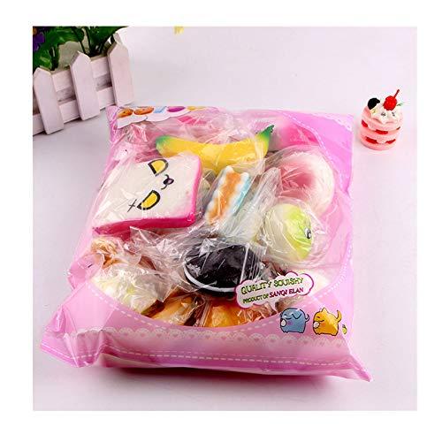 10/15 Stücke Kawaii Squeeze Spielzeug Set Creme Duftenden Tier Essen Toys Anti-Stress Langsam Steigenden Soft Squeeze Party Geschenke für ADHS Das Büro Kindergeburtstag Erwachsene (10 PC Obstkuchen)
