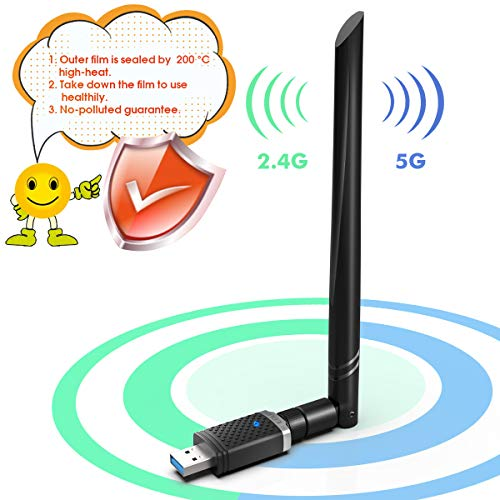 Best Price EDUP WiFi Adapter for Gaming 1300Mbps, USB 3.0 Wireless Adapter Dual Band 5GHz 802.11 AC ...