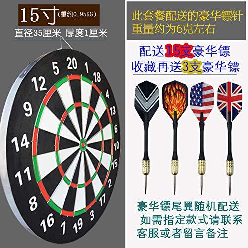 Guo Hengbo Feld Dartscheibe nach Hause Verdickung Scheibe Sportartikel Nadelschießen Ziel Studenten doppelseitige Praxis Aller Altersgruppen15 Zoll (15 Darts)