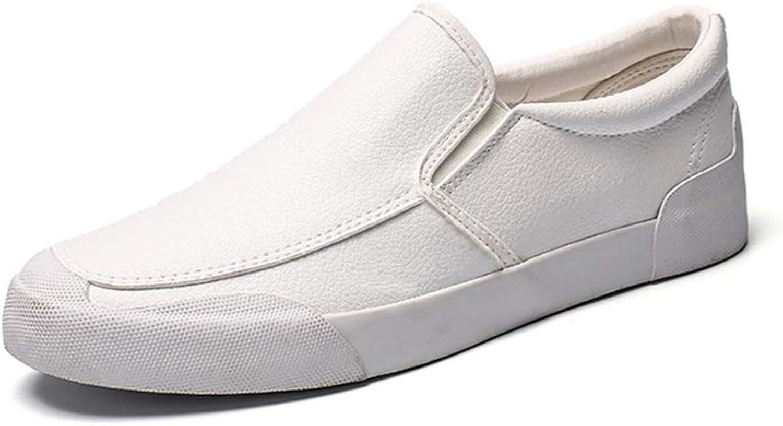 Tillfälliga skor skor skor Mans skor 2019 Springaa ny Business Board skor Manliga Koreanska Version of Driving Flat skor Soft (Färg  vit, Storlek  42)  het försäljning