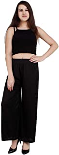 MRN Women Fashion Sareena Malai Lycra Free Size Palazzo Pants for Women|Girls|Plazzo Pants for Women