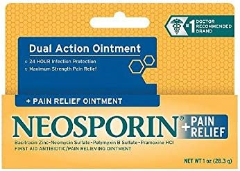 Neosporin First Aid Antibiotic Ointment Maximum Strength Pain Relief 1 Ounce Pack of 2 product image